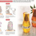 Thoa tinh dầu Milbon Elujuda lên tóc khi đang còn ẩm